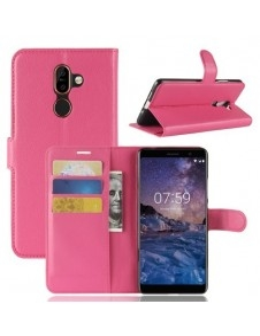 Notesz tok Nokia 7 plus telefonhoz - PINK