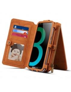 DIBASE multifunkciós telefontok Samsung Galaxy S9 / Galaxy A8 (2018) telefonhoz - BARNA