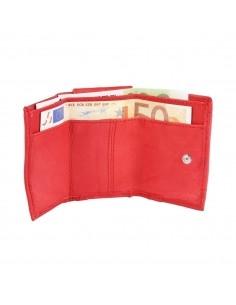 Excellanc mini piros bőr pénztárca - 6x9 cm - 495232050006