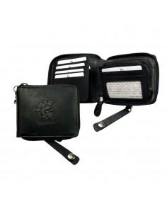 LandLeder körbe cipzáros bőr pénztárca - 994