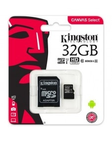 Kingston 32GB Canvas Select 80R Class 10 UHS-1 microSDHC memóriakártya