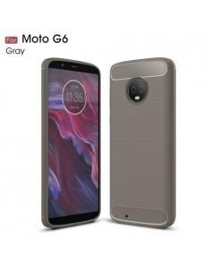 Motorola Moto G6 karbon mintás tok - SZÜRKE