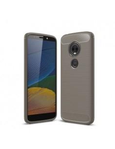 Motorola Moto E5 Plus karbon mintás tok - SZÜRKE