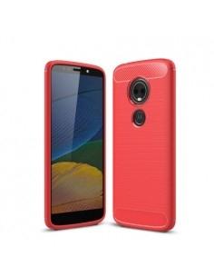Motorola Moto E5 Plus karbon mintás tok - PIROS