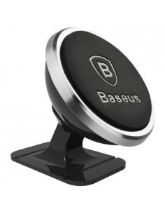 BASEUS 360 fokban forgatható műszerfalra rögzíthető mágneses autós tartó (függőleges) - EZÜST