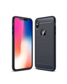 Apple iPhone XS Max karbon mintás tok - KÉK