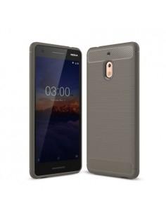 Nokia 2.1 karbon mintás tok - SZÜRKE