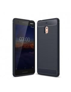 Nokia 2.1 karbon mintás tok - KÉK