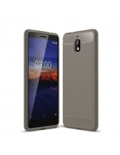 Nokia 3.1 karbon mintás tok - SZÜRKE