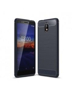 Nokia 3.1 karbon mintás tok - KÉK