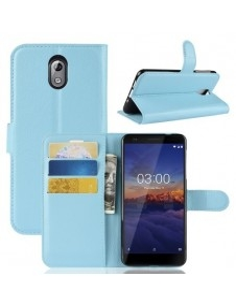 Oldalra nyíló tok Nokia 3.1 telefonhoz - KÉK