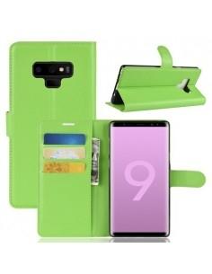Oldalra nyíló tok Samsung Galaxy Note 9 telefonhoz - ZÖLD