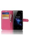 Oldalra nyíló tok Sony Xperia XZ3 telefonhoz - PINK
