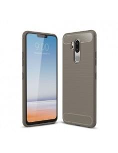 LG G7 ThinQ karbon mintás tok - SZÜRKE