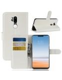 Oldalra nyíló tok LG G7 ThinQ telefonhoz - FEHÉR