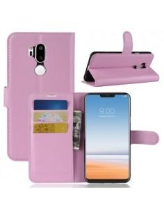 Oldalra nyíló tok LG G7 ThinQ telefonhoz - RÓZSASZÍN