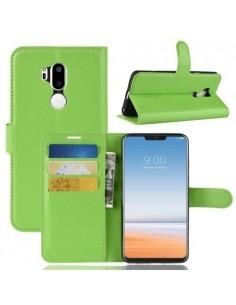 Oldalra nyíló tok LG G7 ThinQ telefonhoz - ZÖLD