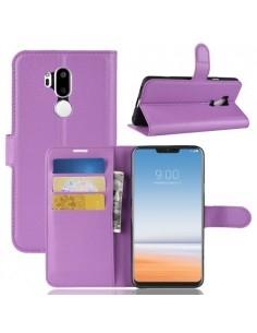 Oldalra nyíló tok LG G7 ThinQ telefonhoz - LILA