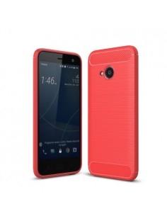 HTC U11 Life karbon mintás tok - PIROS