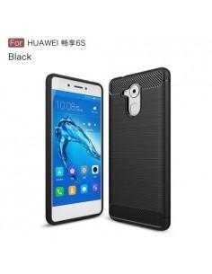 Huawei Enjoy 6s / Honor 6C karbon mintás tok - FEKETE