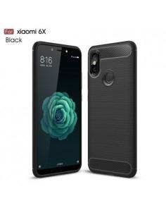 Xiaomi Mi A2 / Mi 6X karbon mintás tok - FEKETE