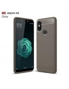 Xiaomi Mi A2 / Mi 6X karbon mintás tok - SZÜRKE
