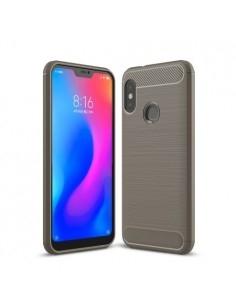Xiaomi Mi A2 Lite / Redmi 6 Pro karbon mintás tok - SZÜRKE