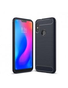 Xiaomi Mi A2 Lite / Redmi 6 Pro karbon mintás tok - KÉK