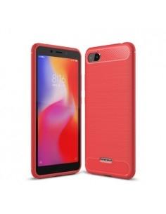Xiaomi Redmi 6A karbon mintás tok - PIROS