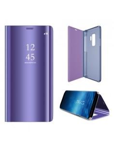 Flip telefontok átlátszó előlappal Samsung Galaxy S9 készülékhez - LILA