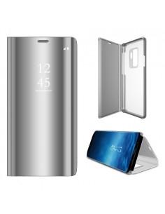 Flip telefontok átlátszó előlappal Samsung Galaxy S9 Plus készülékhez - EZÜST