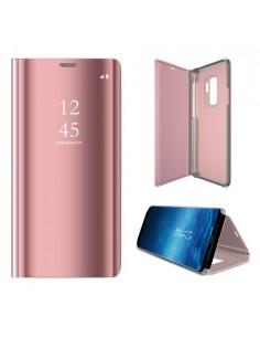 Flip telefontok átlátszó előlappal Samsung Galaxy S9 Plus készülékhez - RÓZSAARANY