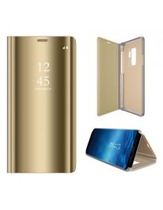 Flip telefontok átlátszó előlappal Samsung Galaxy S9 Plus készülékhez - ARANY