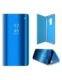 Flip telefontok átlátszó előlappal Samsung Galaxy S9 Plus készülékhez - KÉK