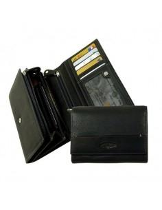 La Borsa pénztárca 3 rekeszes - Fekete - LandLeder - 984-20