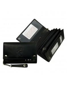 LandLeder nagyméretű láncos pénztárca - 17x11 cm - FEKETE - 993-20