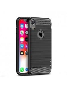 Apple iPhone XR karbon mintás tok - FEKETE