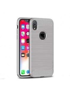 Apple iPhone XR karbon mintás tok - SZÜRKE