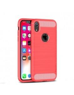 Apple iPhone XR karbon mintás tok - PIROS
