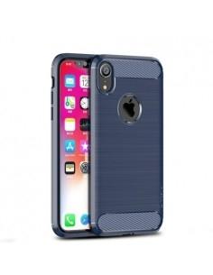 Apple iPhone XR karbon mintás tok - KÉK