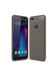 HTC Desire 12 Plus karbon mintás tok - SZÜRKE