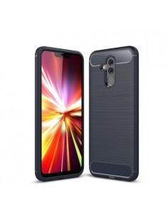 Huawei Mate 20 Lite karbon mintás tok - KÉK