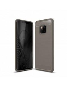 Huawei Mate 20 Pro karbon mintás tok - SZÜRKE