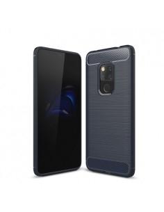 Huawei Mate 20 karbon mintás tok - KÉK