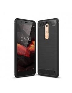Nokia 5.1 karbon mintás tok - FEKETE