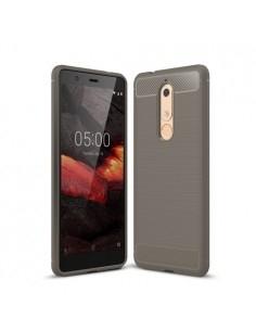 Nokia 5.1 karbon mintás tok - SZÜRKE