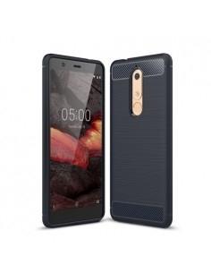 Nokia 5.1 karbon mintás tok - KÉK