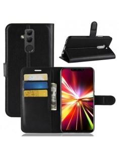 Oldalra nyíló tok Huawei Mate 20 Lite telefonhoz - FEKETE