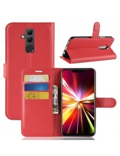 Oldalra nyíló tok Huawei Mate 20 Lite telefonhoz - PIROS