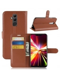 Oldalra nyíló tok Huawei Mate 20 Lite telefonhoz - BARNA